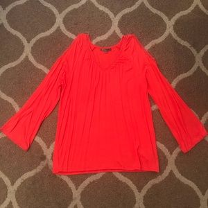 Coral Cutout Sleeve Detailed Blouse